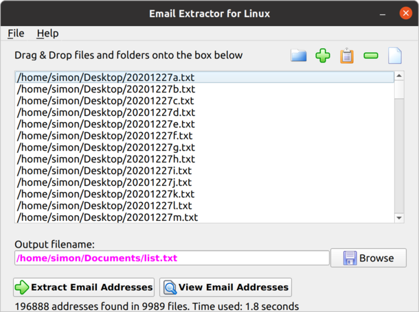 Email Extractor for Linux
